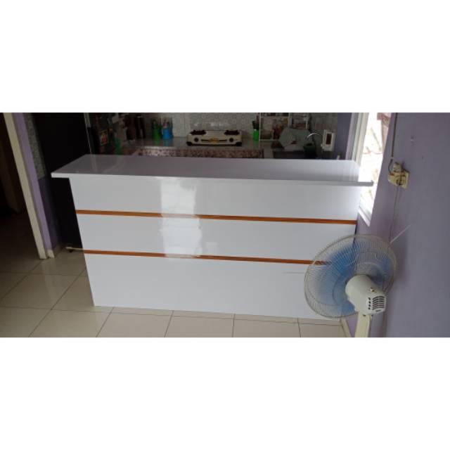 Meja Mini Bar Meja Bar Kitchen Set Sekat Ruang Dan Dapur Shopee