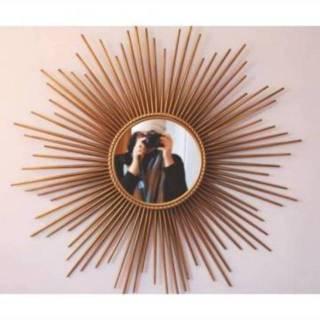 cermin/aesthetic/cermin rotan/rotan/cermin mirror/cermin