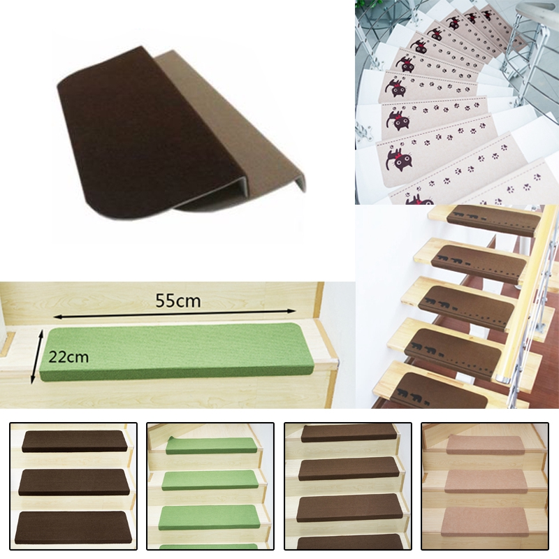 4 Color Non Slip Carpet Stair Tread Mat