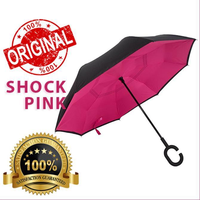 Payung Terbalik Kazbrella Gagang 02 C Reverse Umbrella Payung Lipat Mobil | Shopee Indonesia