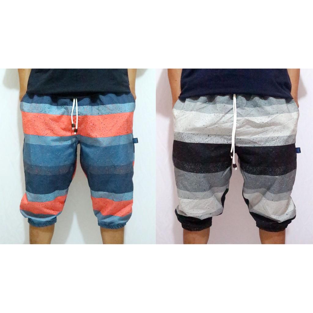 Celana Pendek Pria Santai Terry Jogger Shopee Indonesia Vm Hitam