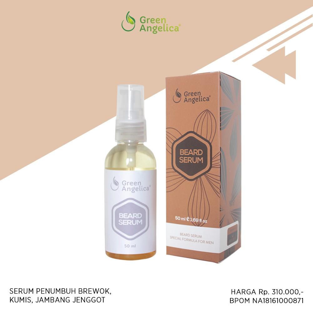 Bread serum green angelica obat penumbuh jambang kumis brewok jenggot alami & pasti aman digunakan | Shopee Indonesia