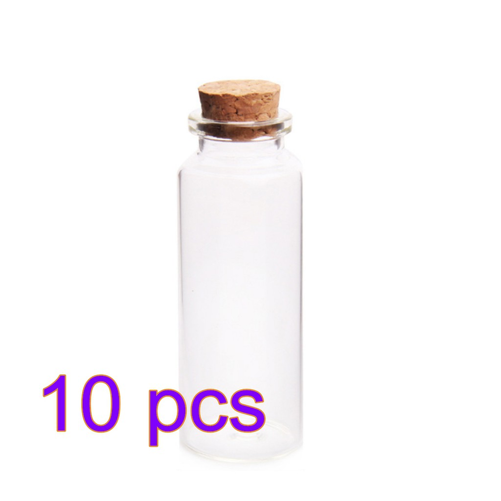 10pcs 40ml 30*80mm Sample Vial Clear Glass Bottles with Corks Jars
