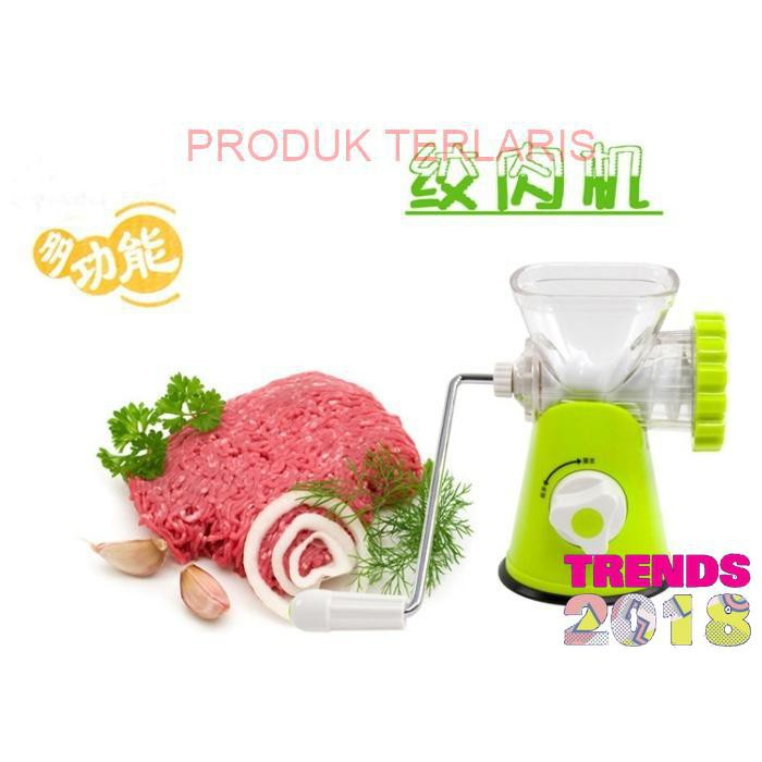 Meat glinder mincer buah sayuran sayur pasta penggiling giling daging alat huamei plastik manual   Shopee