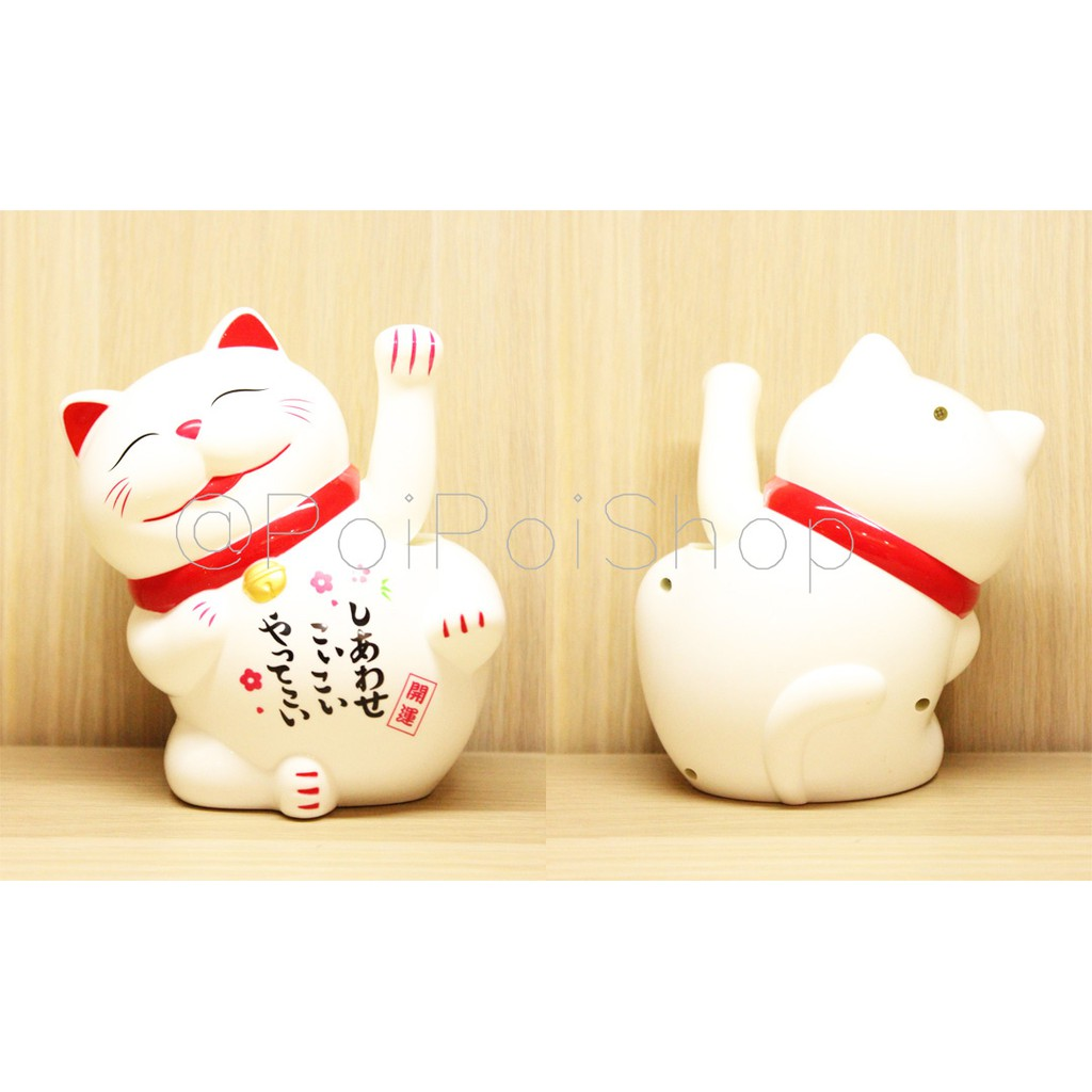 Patung Kucing Hoki 15cm Body Tulisan Maneki Neko Yuan Bao Lucky Cat Shopee Indonesia