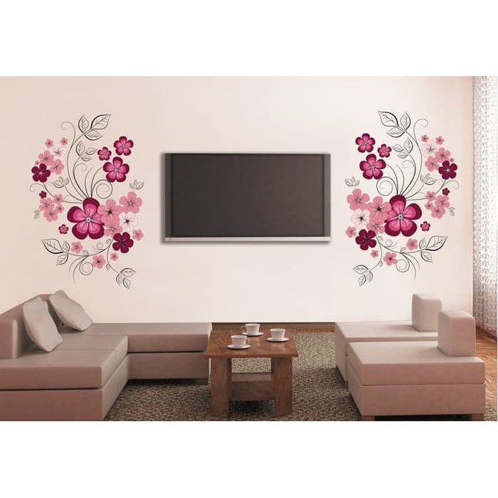 SK9073B Vase Flowers Wallsticker wall sticker stiker dinding | Shopee Indonesia