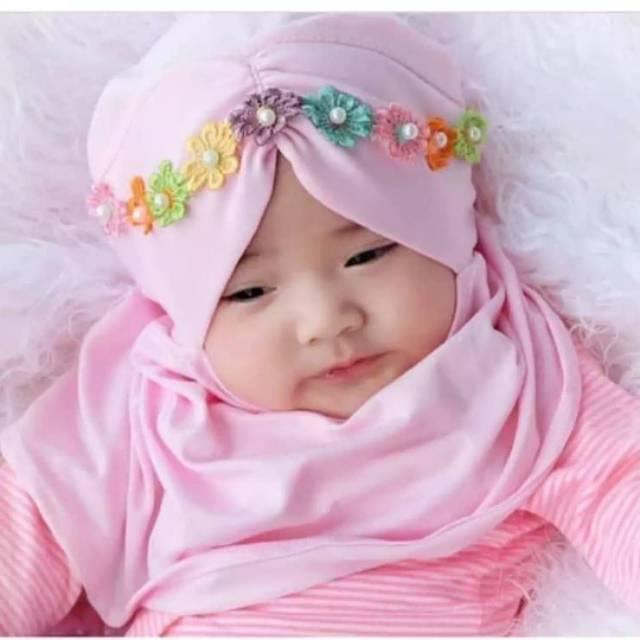 Ayuchanstore Jilbab Bayi Aisyah Mutiara Shopee Indonesia