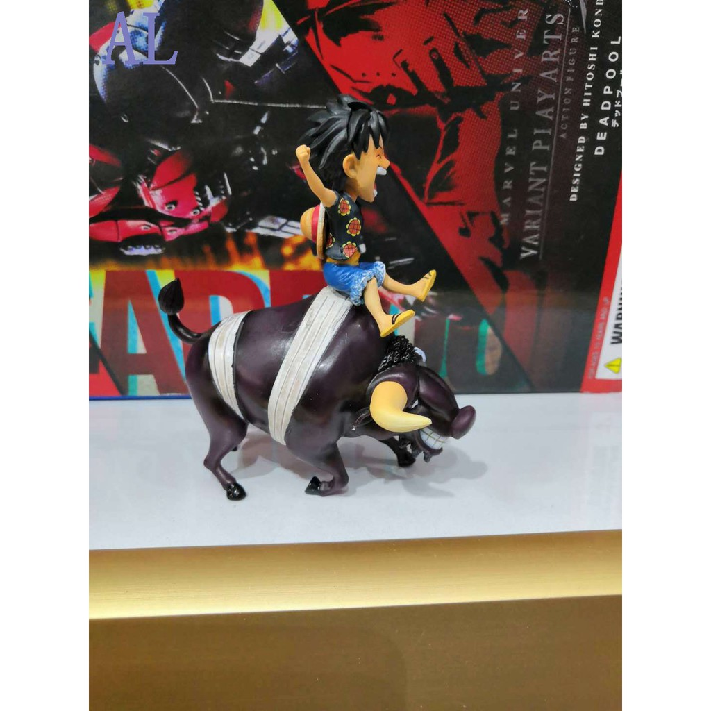 Action Figure E Piece Luffy Bull GK