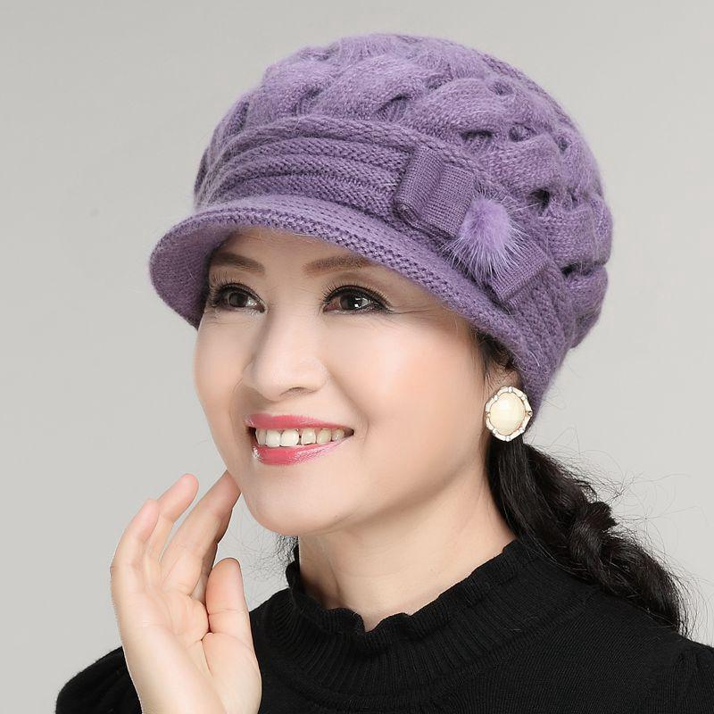 0d6b77bc0cf ✇✠Hat girl winter Korean rabbit hair cap warm knitted wool autumn  middle-aged and old scarf
