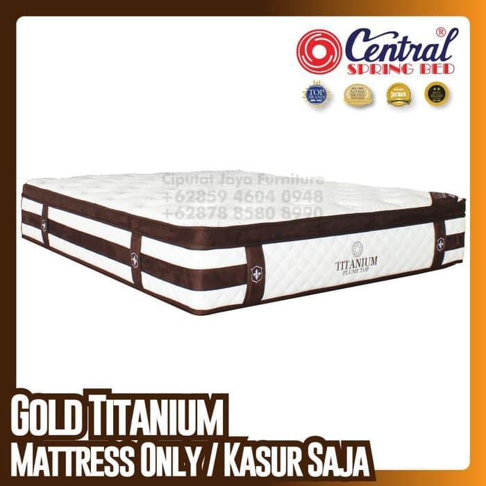 [ Perabot } 193E2505 Central New Gold Titanium - SpringBed - Ukuran 160 x 200 cm Furniture