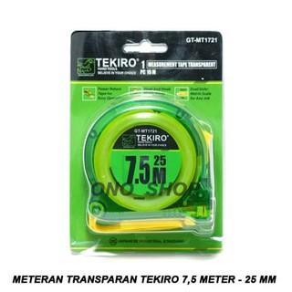 Perbandingan harga Spesial Meteran Transparan Tekiro 7,5 Meter - 25 Mm Hemat lowest price - only 52.688Rp