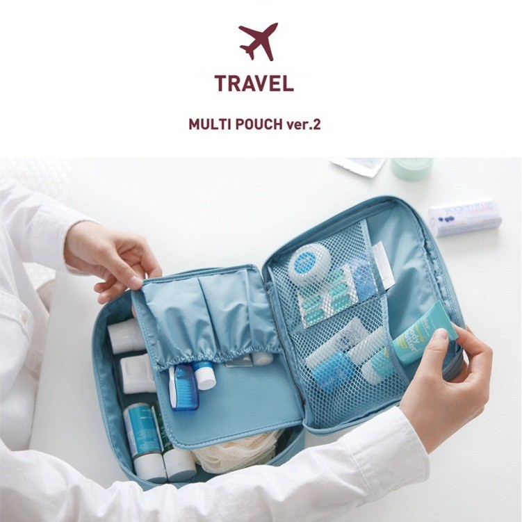 Monopoly travel bag / tas kosmetik / cosmetic organizer | Shopee Indonesia