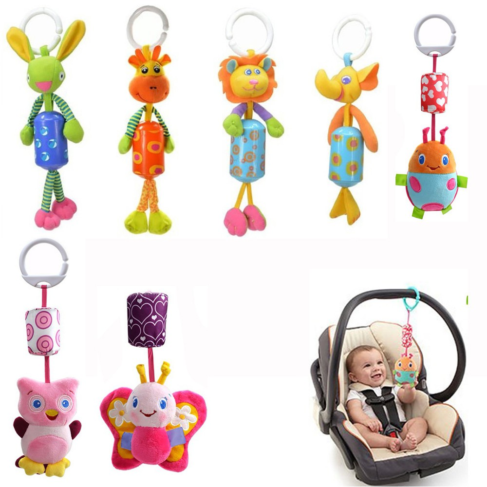 Baby Plush Toys Infant Stroller Bed Cot Crib Hanging Doll Animal Stuffed Toy G
