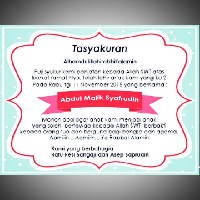 Cetak Sticker Label Syukuran Kelahiran Aqiqah Ulang Tahun Nasi Box Nasi Kotak Murah Isi 100pcs
