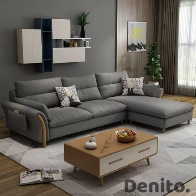 Sofa Minimalis Leter L Kualitas Premium Harga Pabrik 2 Tahun Garansi Gratis Ongkir Jabodetabek Shopee Indonesia