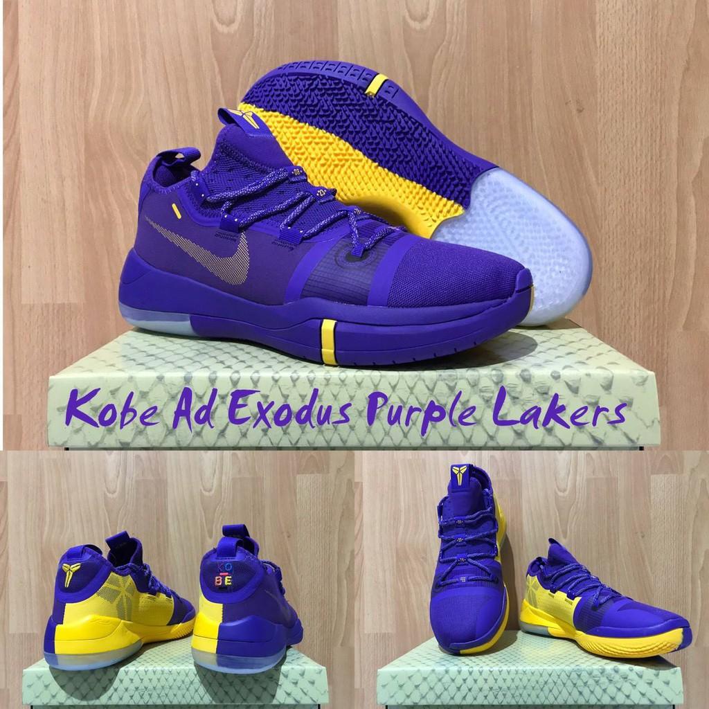 Sepatu Basket Kobe Ad Exodus Low Purple Lakers Pack Purple Shopee Indonesia