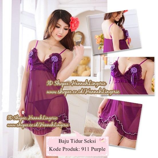 Sexy Lingerie Transparan 945 Lingeri Wanita Baju Tidur Seksi ... e9fdf402ba