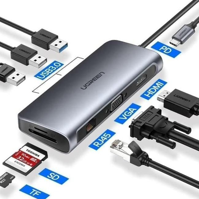 Brand New USB 3.1-C Multiport to HDMI VGA /& Audio Adapter Tested Grade A