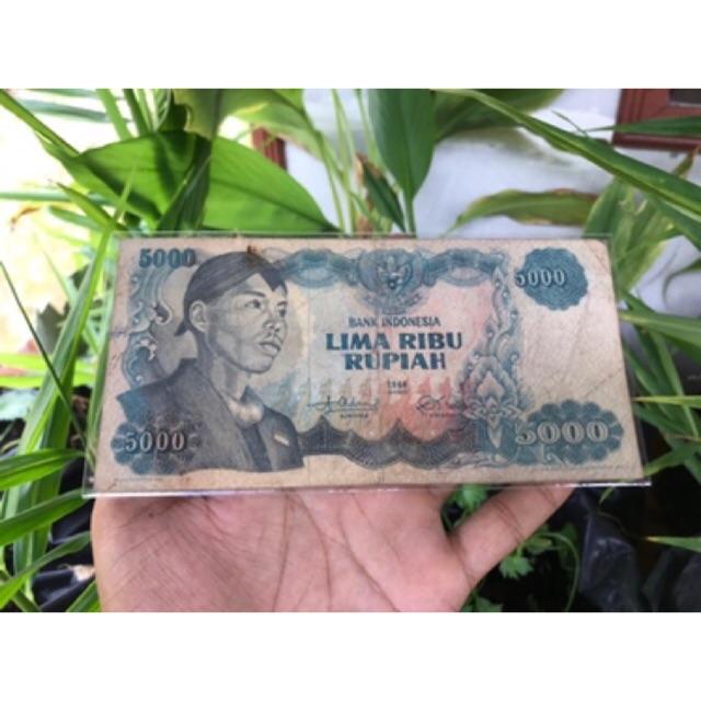 Uang Kuno 5000 Sudirman VF 012