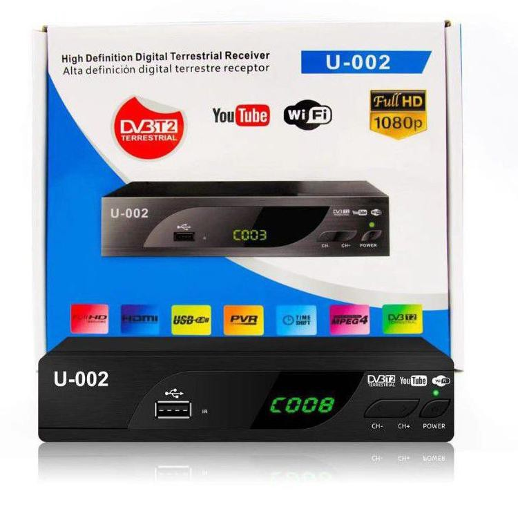 EZ-BOX SET TOP BOX DVB-T2 PENERIMA SIARAN TELEVISI DIGITAL YOUTUBE WIFI (KODE 7757)