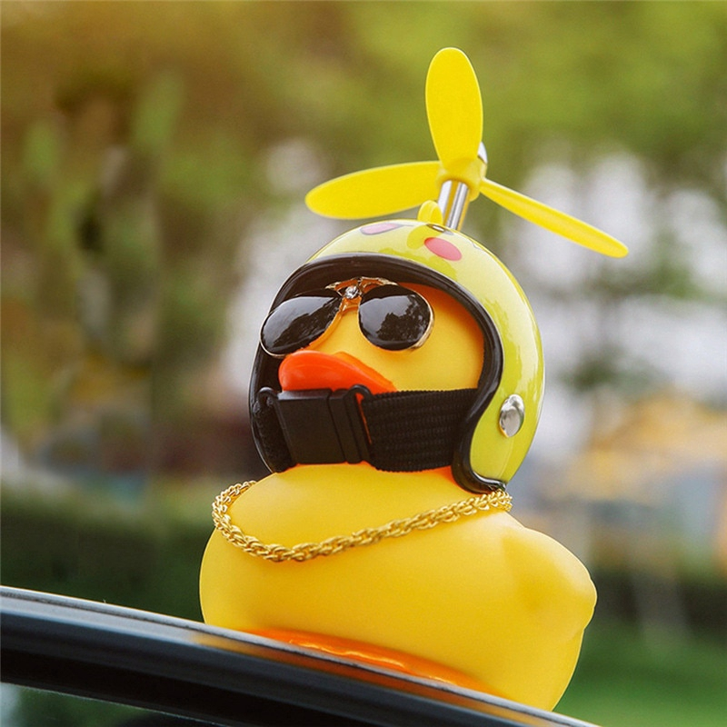 Yellow Duck Car Decoration with LED Light for Car Decoration | Shopee  Indonesia