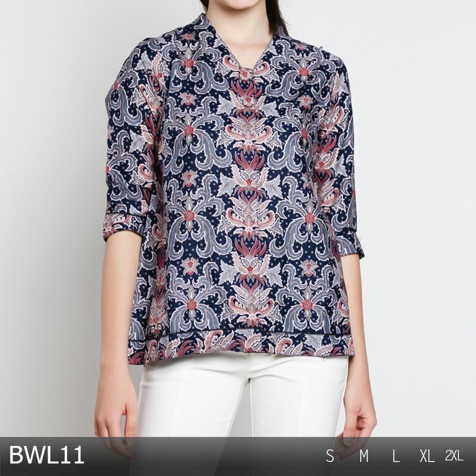 74 Desain Baju Batik Wanita Lengan Panjang Modern | Desaprojek