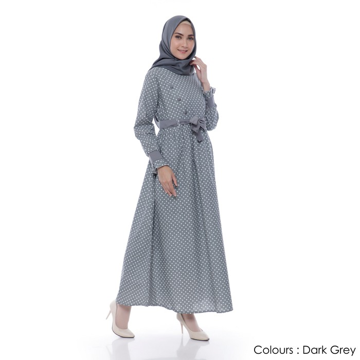 Gamis Lebaran 2020 Remaja Model Gamis Terbaru Ed Syari Maura Lm838 Muslim Mia Polka Maxi Katun Shopee Indonesia