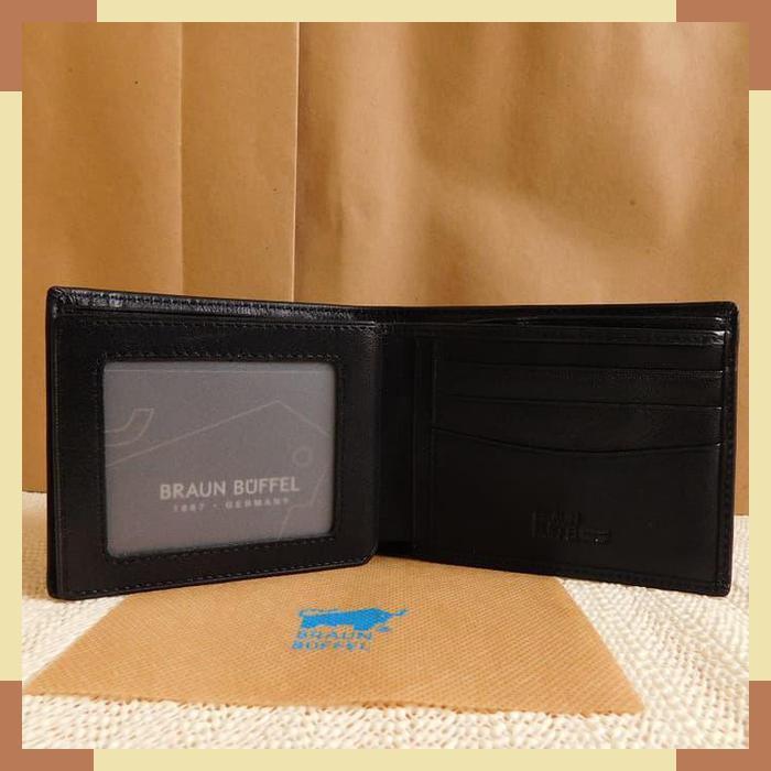TERBARU DOMPET KULIT PRIA TIDUR IMPORT BRANDED   BRAUN BUFFEL BB 01-12 BLACK !   Shopee Indonesia