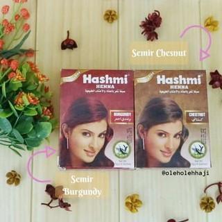 Promo Semir Rambut Hashmi Henna Warna Hitam Burgundy Special