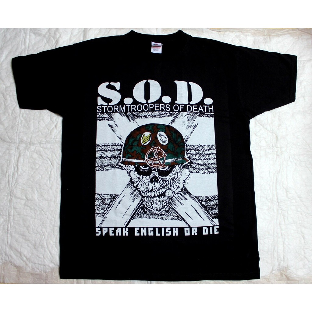 S.O.D SOD STORMTROOPERS OF DEATH SOD NEW BLACK SHORT//LONG SLEEVE T-SHIRT