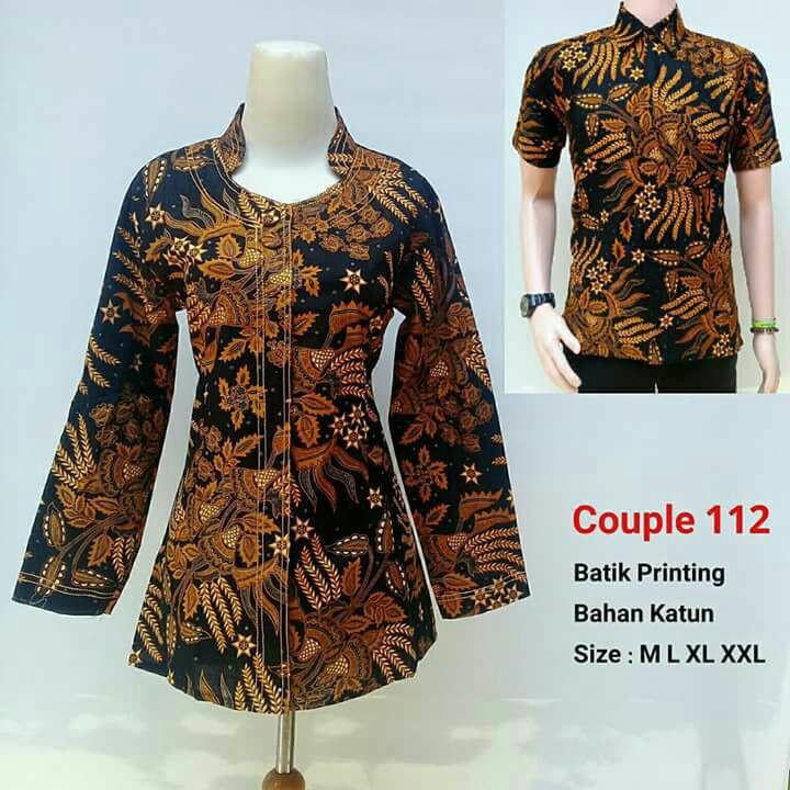 Gamis Couple Seragam Batik Suami Istri Batik Pasangan Baju Sepasang  d   b84d0405fd