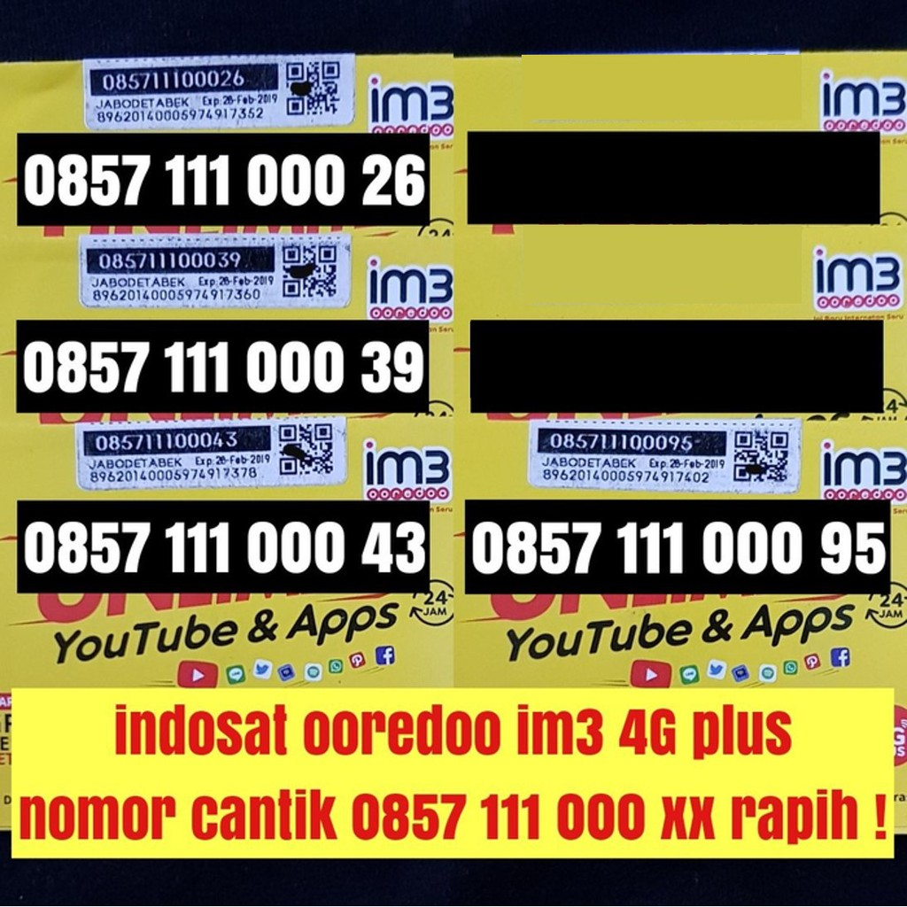 Jual Kartu Perdana XL Axiata Nomor Nomer Cantik Nocan seri 0877 7000 5188 Jaringan Internet 4G