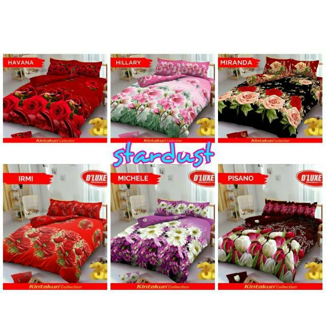 3kg Bedcover Kintakun D'luxe 180 - Alexa, Blooming, Green Forest, Maze, Roseline, Siera Spring Hills | Shopee Indonesia