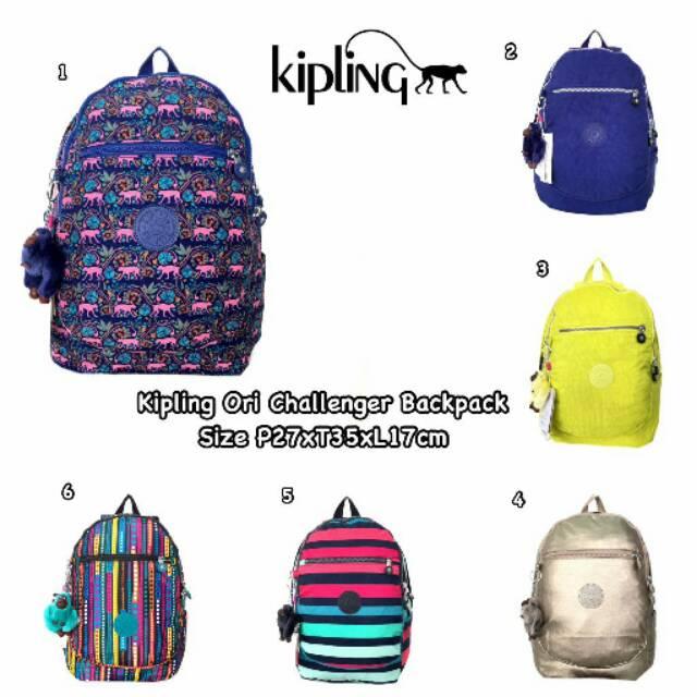 Backpack kipling ori challenger   tas ransel kipling original ... b00771ca25