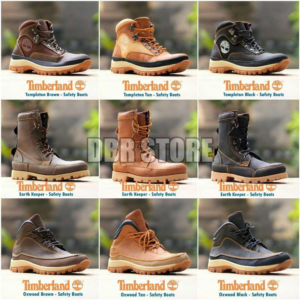 Sepatu Boots Desain Timberland Premium 15 Shopee Indonesia Moofeat Lunnar Tan
