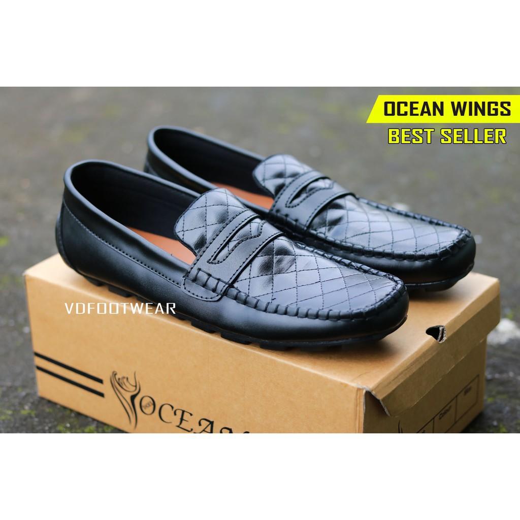 OCEAN WINGS Sepatu Pria Casual Slip On Formal Kerja Pantofel Original Laki Sneakers  Cowok Murah  ac6f0b673c