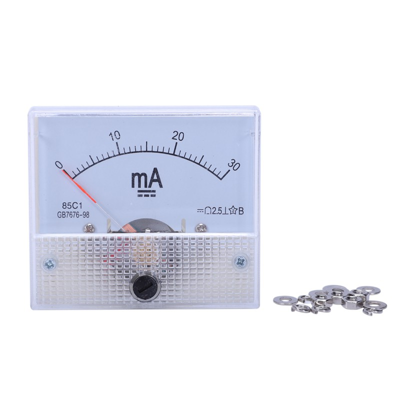 DC 0-10A Analog Amp Meter Ammeter Current Panel Ampere Meter 85C1 Class 2.5