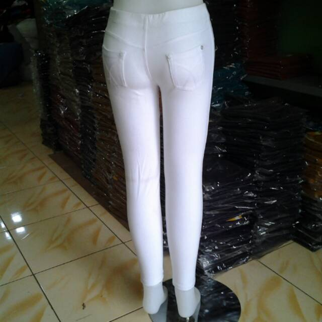 Legging Polos Warna Putih Shopee Indonesia