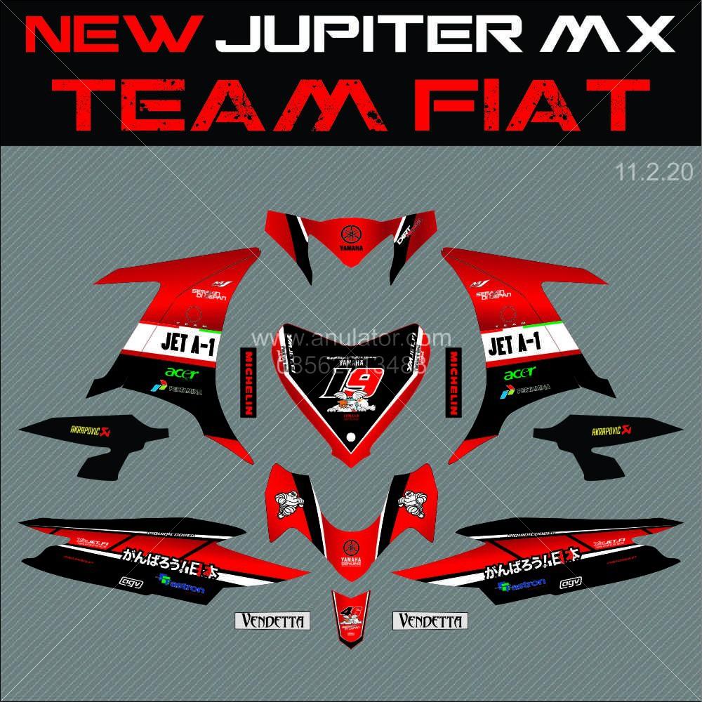 Sticker striping motor stiker yamaha new jupiter mx 135 jet 1 spec a harga oke kualitas kece shopee indonesia