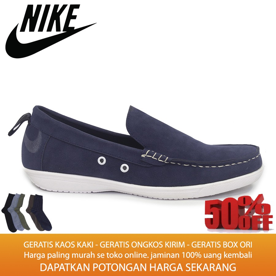 Sepatu Casual Slop Slip On Formal Kickers Mocasin Papara Navy Cocoes Decano Black Loafers Santai Kerja Shopee Indonesia