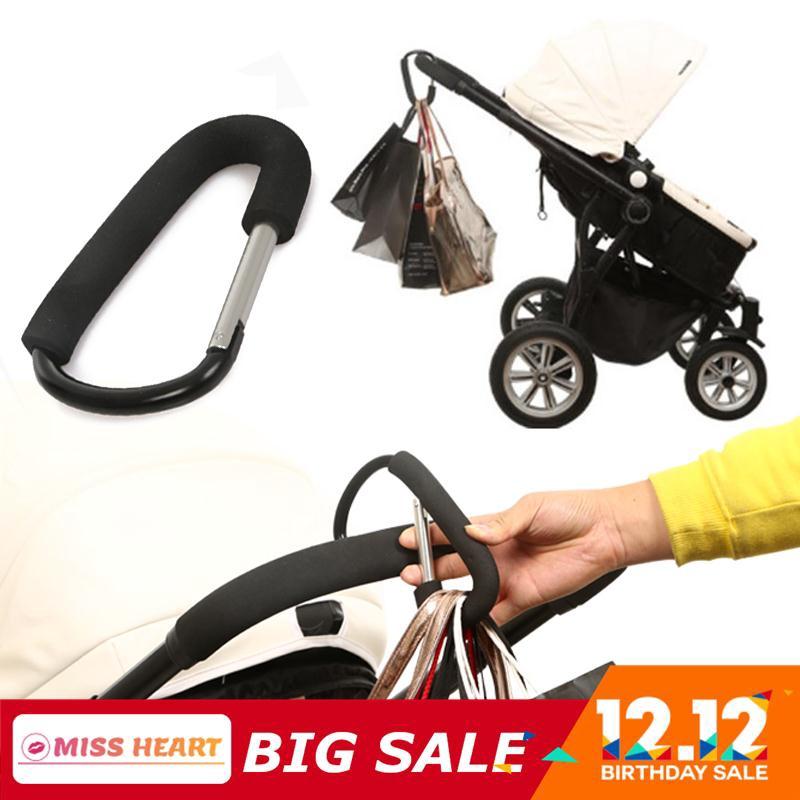 2Pcs Buggy Clip Pram Pushchair Stroller Side Hook Baby Handle Shopping BagPRUK