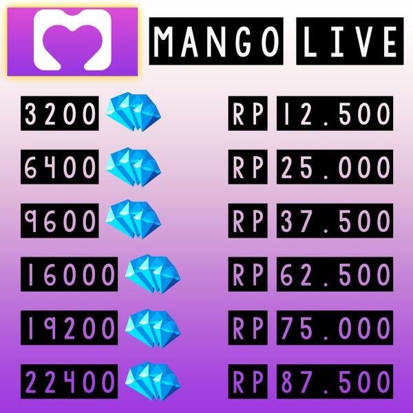 TOP UP DM MANGO LIVE - TOP UP MANGO ID TERMURAH