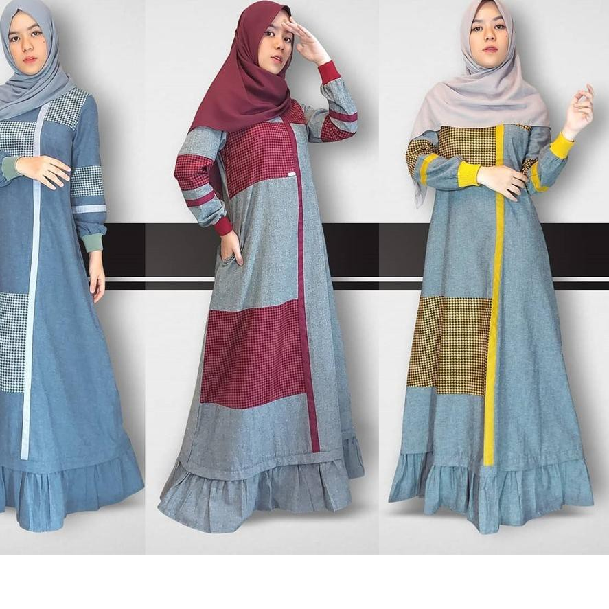 PROMO!!!  Adilla Dress by Zalifa Exclusive Collection - Baju Muslim Wanita - Gamis >