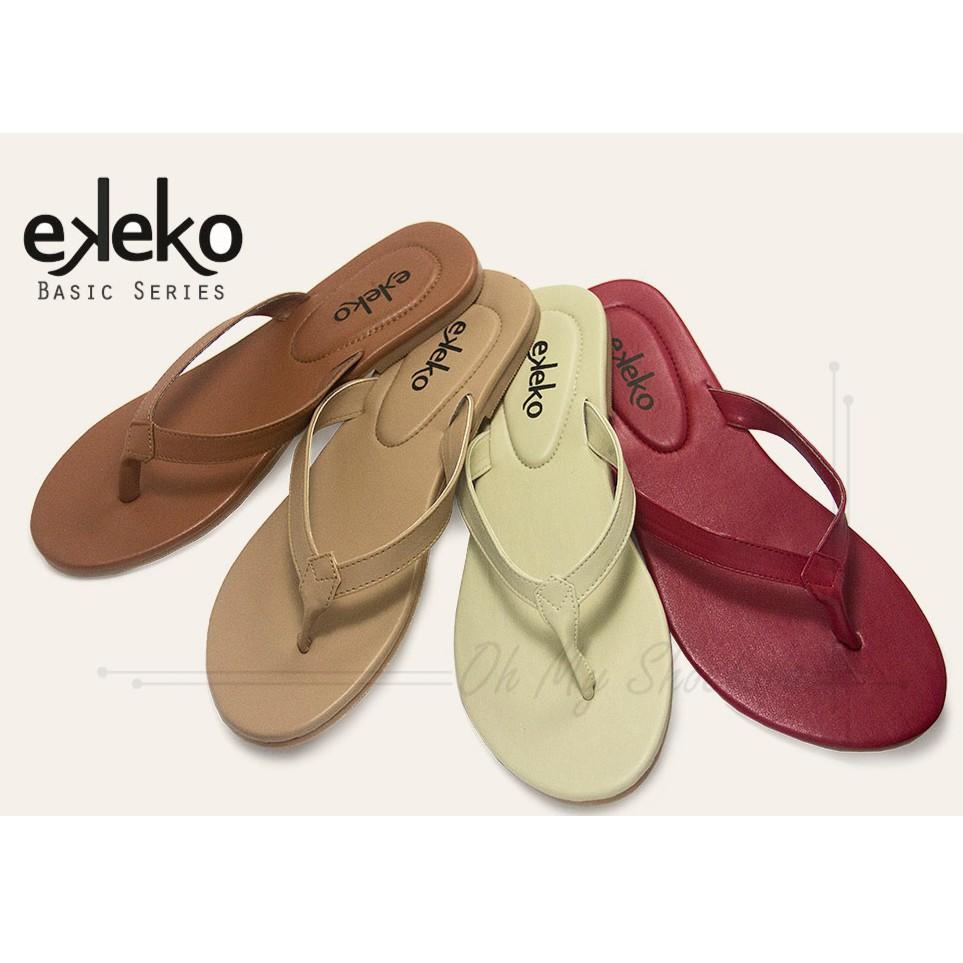 03855cea6caa Sandal wanita flat teplek premium kulit sapi asli cewek kekinian tali jepit  pita