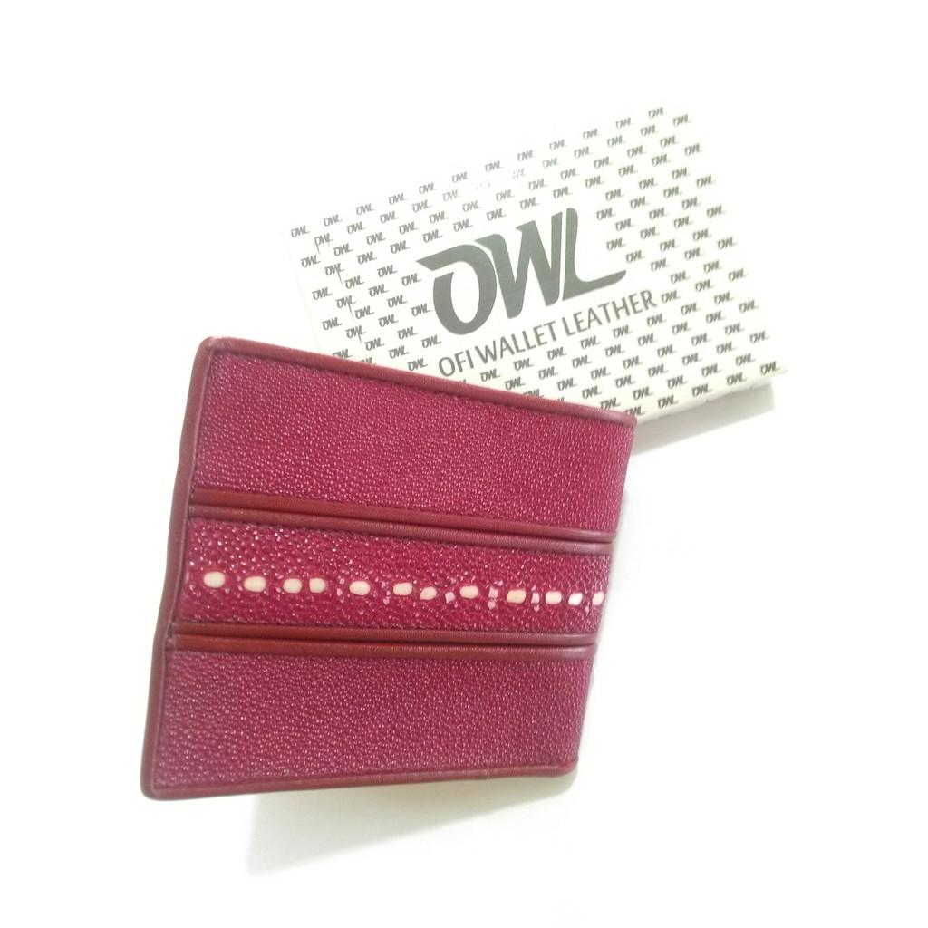 Ofi Wallet Leather Dompet Kulit Ikan Pari Diamond Merah Marun Pria Asli  Model Bifold Motif Batik 9c0f65fe63
