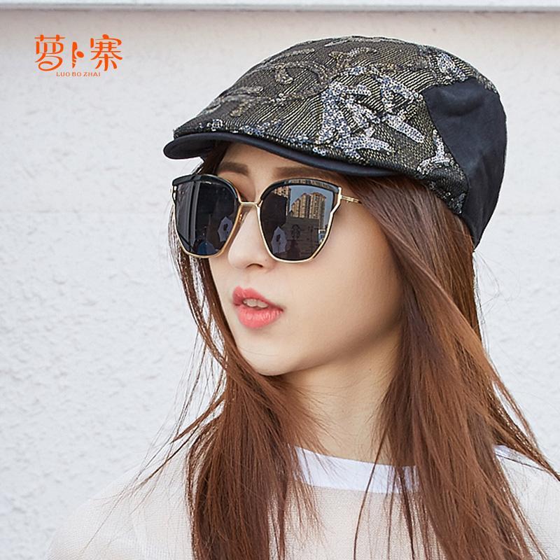 ✧Manik-manik musim gugur/musim dingin wanita baret topi versi Korea tren maju kasual belanja fashio