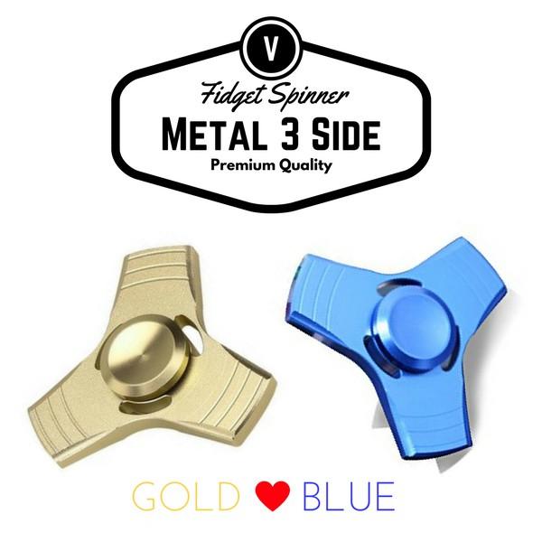 Fidget Spinner Metallic Chrome Premium Quality - Rainbow | Shopee Indonesia