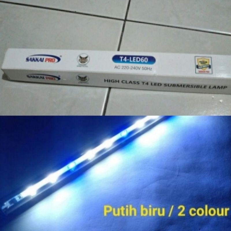 Lampu Led Celup / Lampu Led Aquarium Submersible 60 Cm Biru Putih