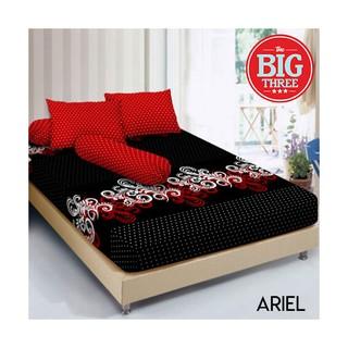 Sprei KINTAKUN 180x200 160x200 motif ARIEL - KING Queen 180 160 - Deluxe - Aril Minimalis - Merah