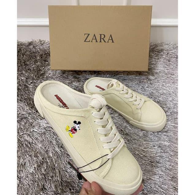 Terhemat Sepatu Flat Wanita Import Sepatu Zara Mickey Mouse